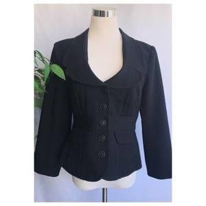 Nanette Lepore Black Blazer Jacket Button Down